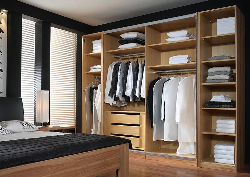 : wardrobe bedroom armoire closet with storage drawer shelves and hanging
