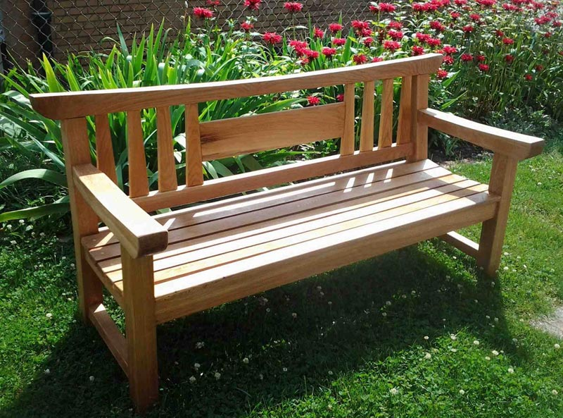 wooden garden bench kits