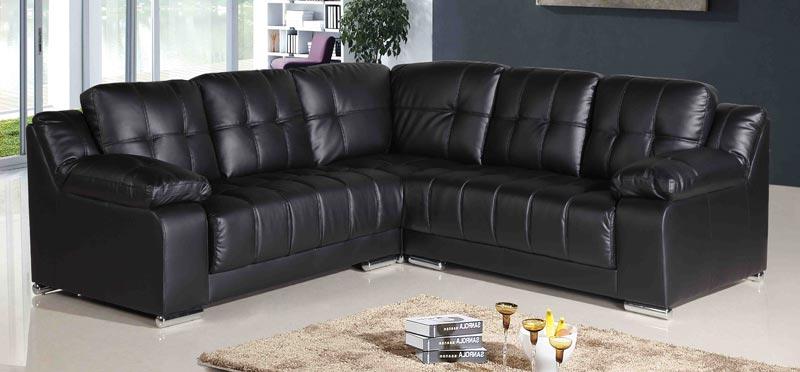 : black leather corner sofa sale