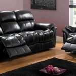 black leather recliner sofa set couch