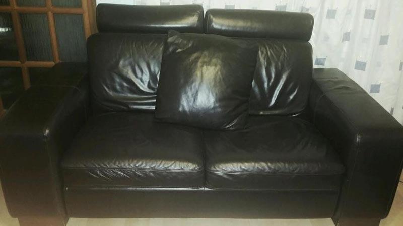: black leather sofa furniture village