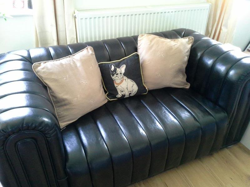 : black leather sofa set for sale