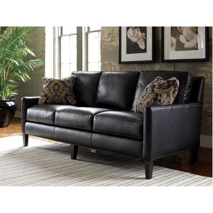 : black leather sofa set price