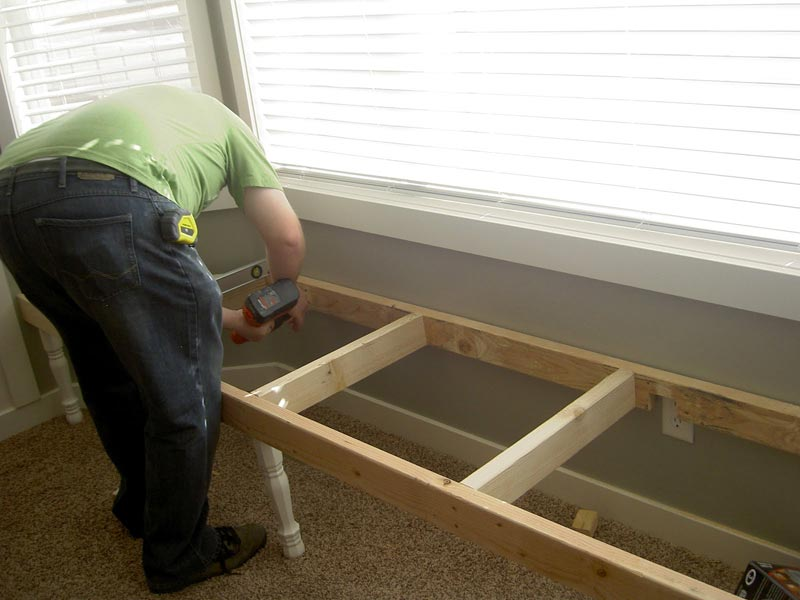 how to make a window bench with storage