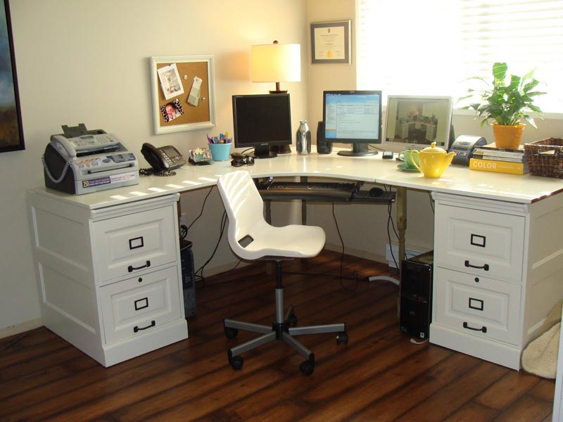 ikea white desk and chair