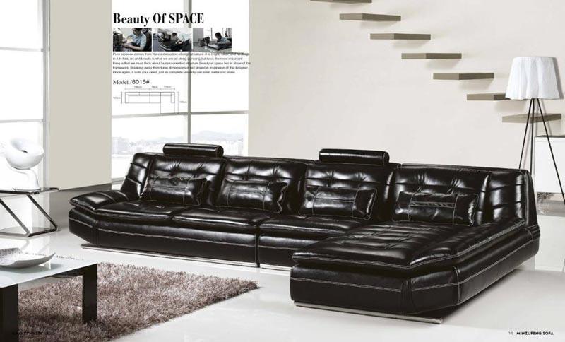 : italia designs black leather sofa set