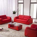 Red Leather Sofa Living Room Ideas: Interior Design Ideas
