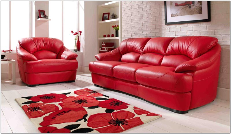 red leather sofa living room ideas2