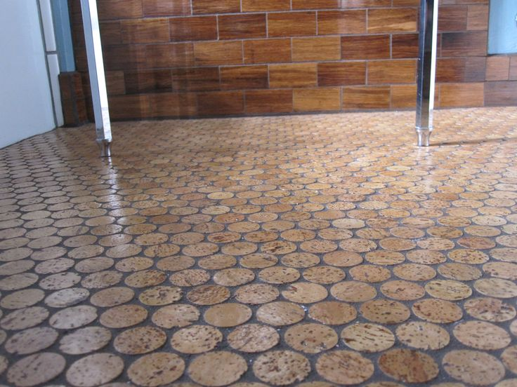 cork penny tile flooring