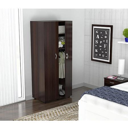 : wardrobe bedroom armoire in espresso finish