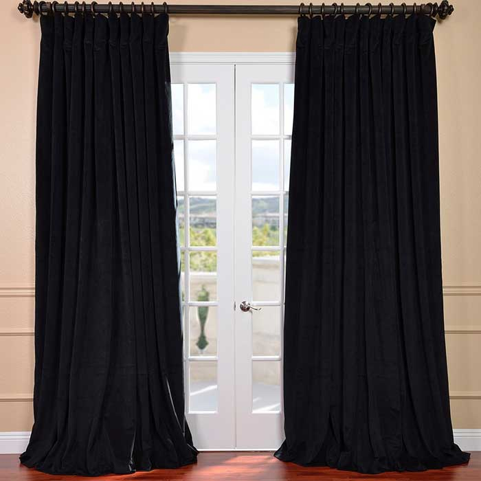 8 ft black curtains