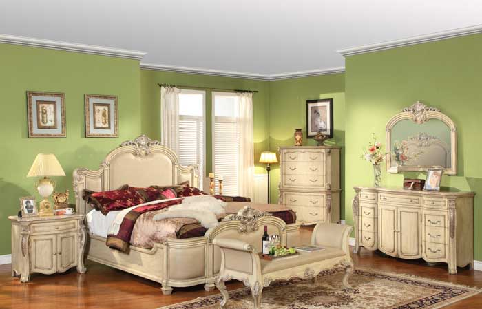 : antique white bedroom furniture sets