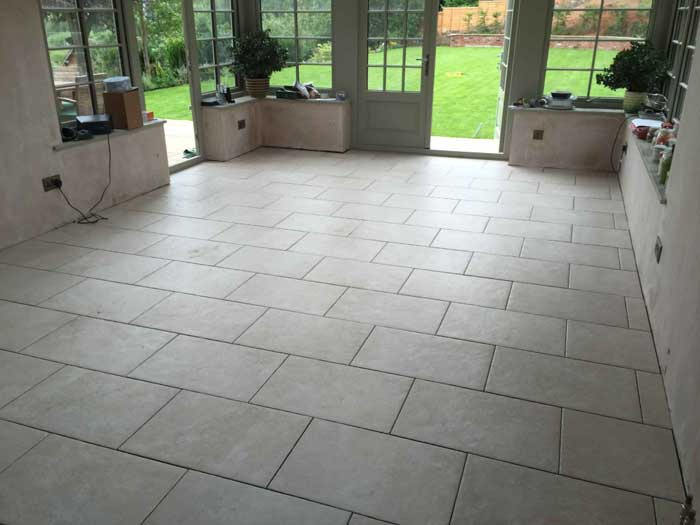 quartz floor tiles and underfloor heating