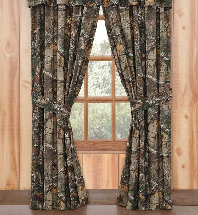 realtree max 4 camouflage curtains