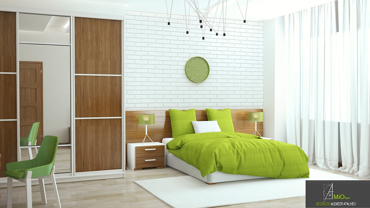 #4 by Alakbar Ataliyev. Another lovely green bedroom