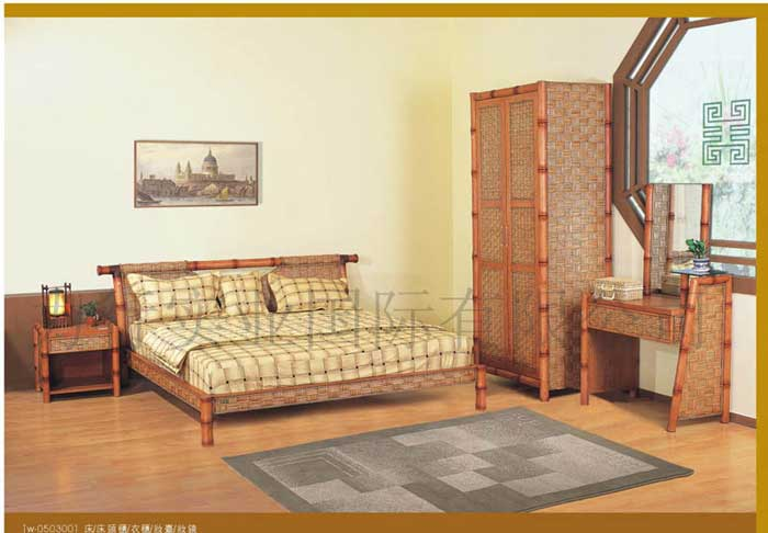 Bamboo Rattan Bedroom Furniture