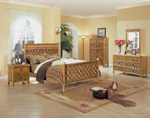: bamboo wicker bedroom furniture