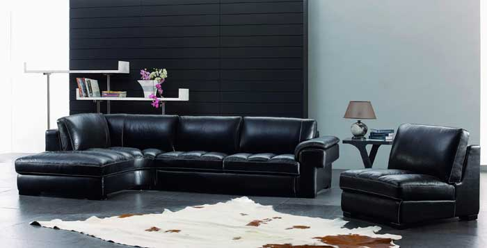 : black leather sofa ideas