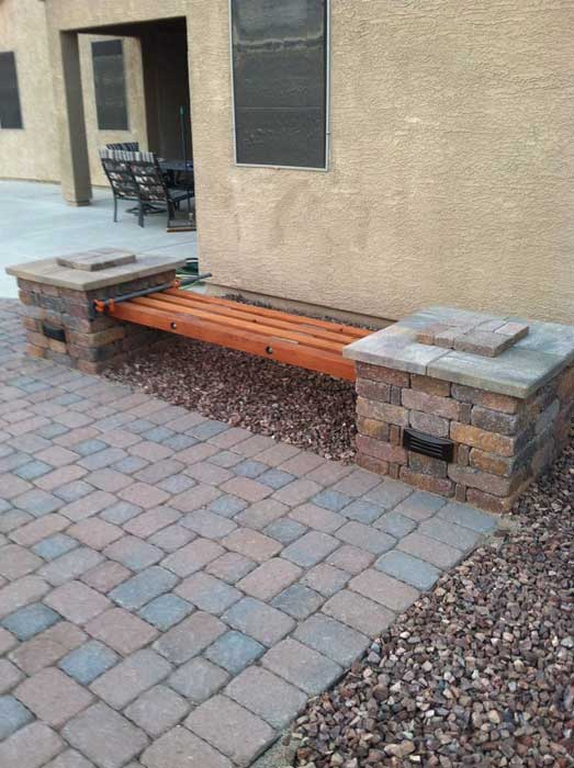 brick bench ideas