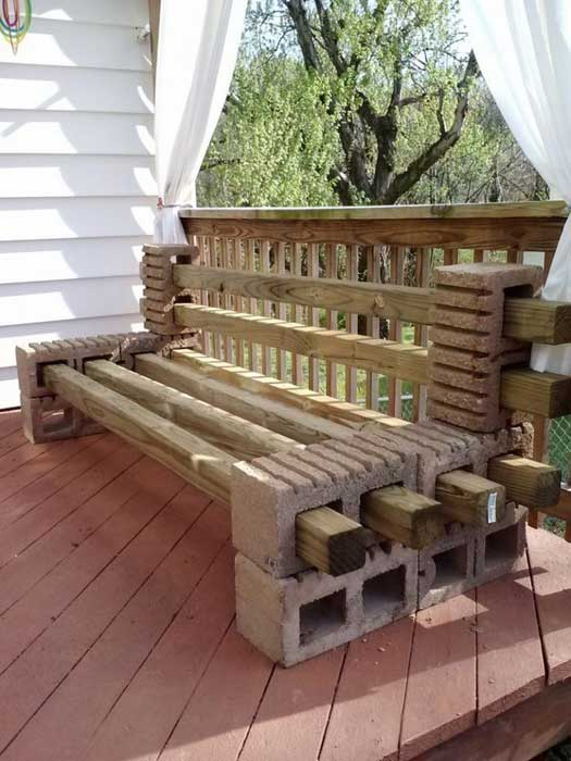 brick bench ideas5