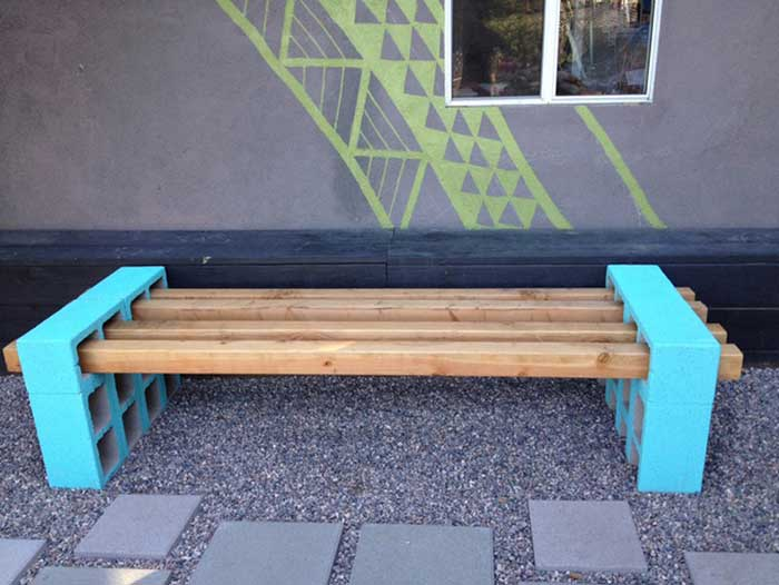 brick bench ideas6