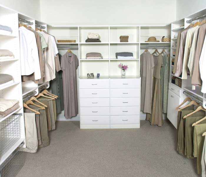 custom closet storage organizer and design solutions
