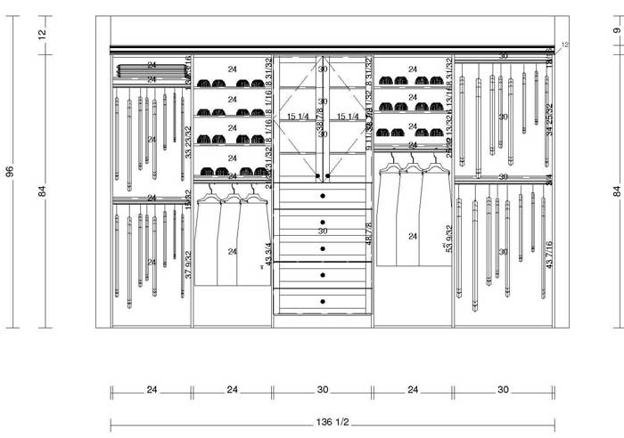 custom closet storage plans