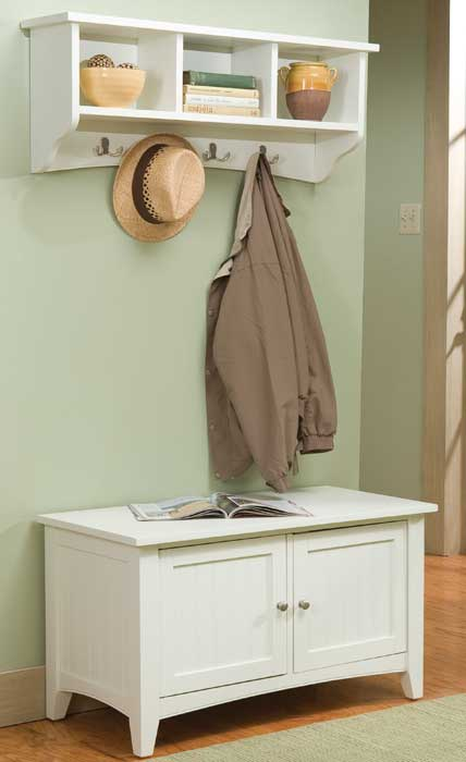 storage bench seat with coat hooks1