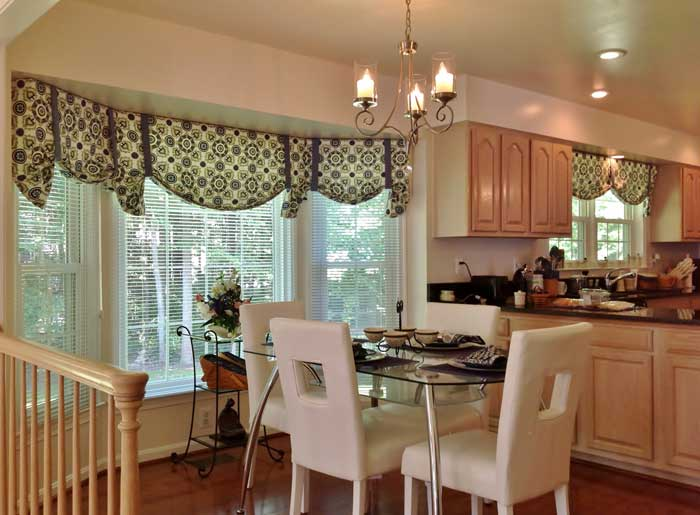 window treatments for bow windows in kitchen