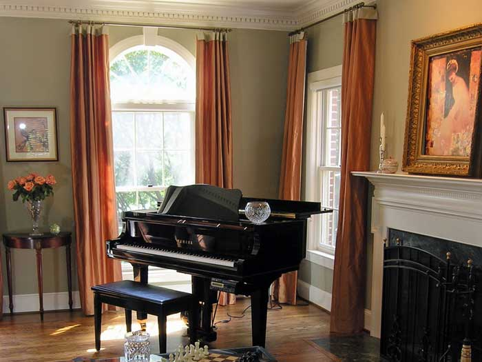 window treatments for bow windows pictures