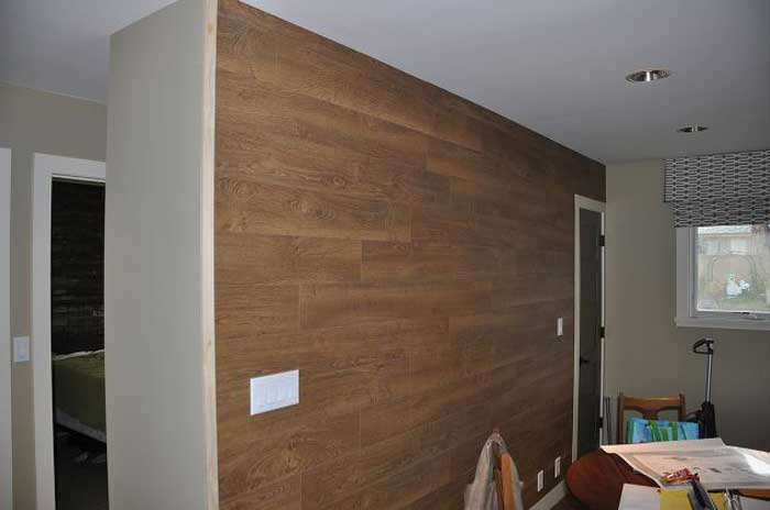 how to install laminate flooring on a wall