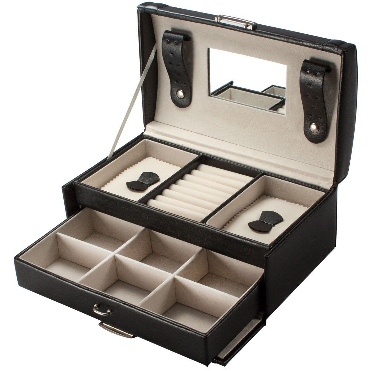 black jewelry box armoire