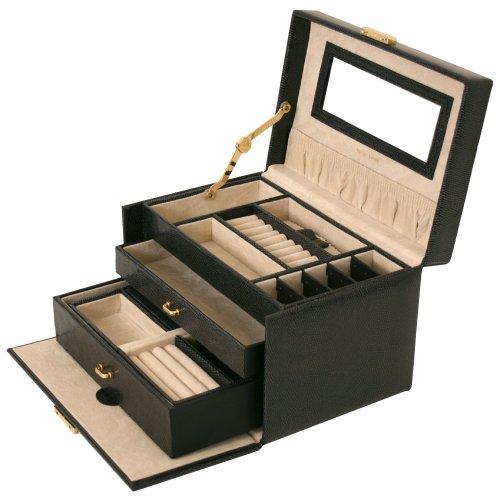 black jewelry box hardware