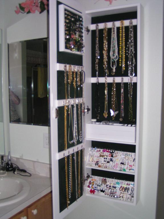 cheap mirrored jewellery cabinet