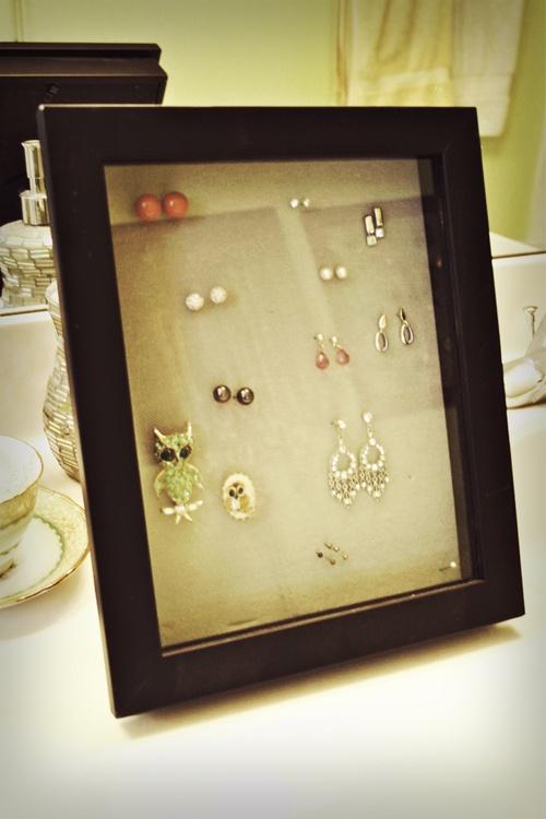 diy jewelry shadow box