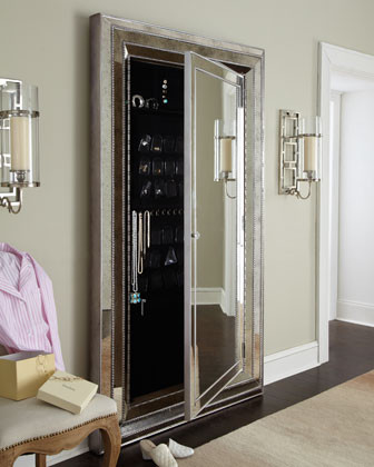 floor mirror & jewelry storage cabinet