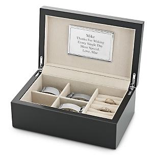 engraved men's jewelry box