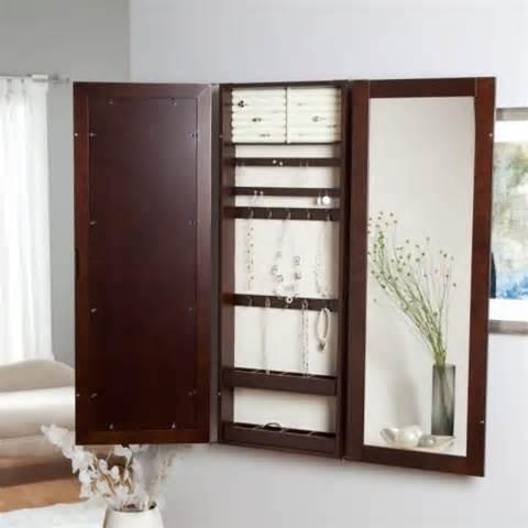 inside wall jewelry cabinet