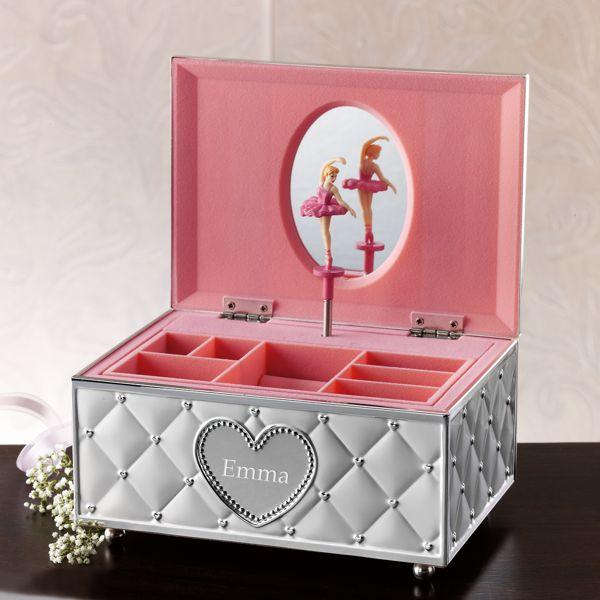 personalized ballerina musical jewelry box by lenox