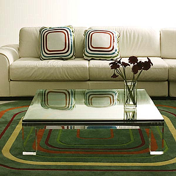 Acrylic coffee table clear