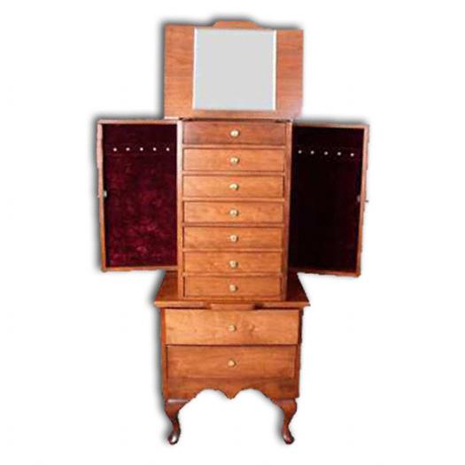 Amish oak jewelry armoire 2