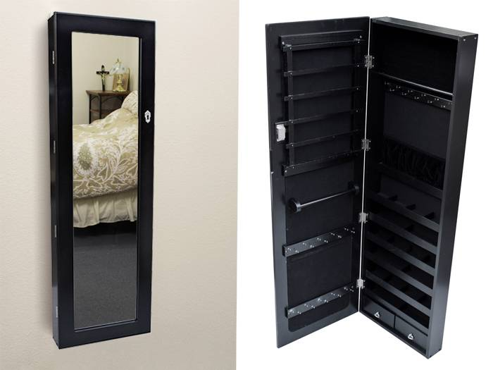 Black Mirror Jewelry Armoire. Picture: Supplied  Source:Getty Images