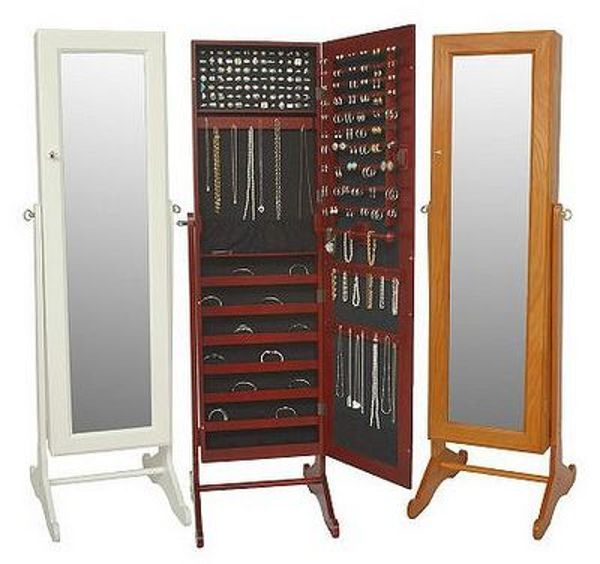 Cheval mirror jewelry armoire big lots