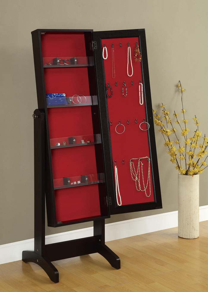 Cheval mirror jewelry armoire image