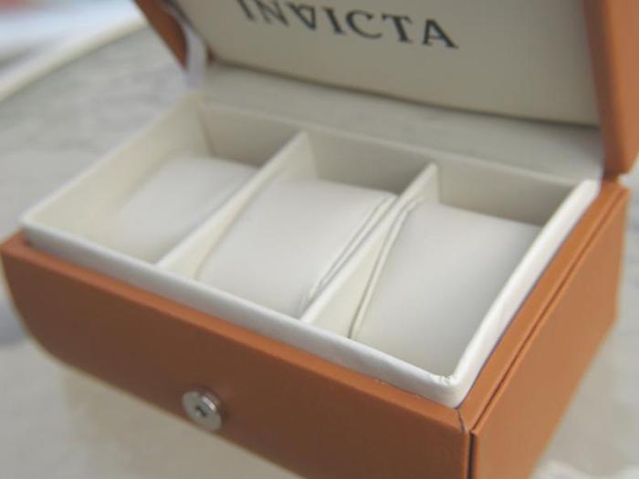 Invicta travel watch jewelry box 3 slot