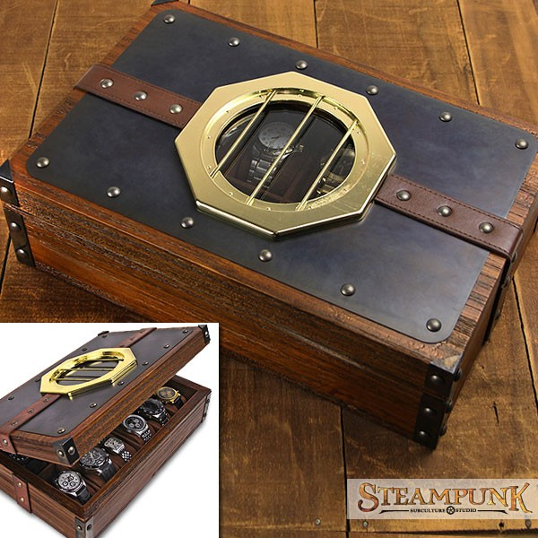 Jewelry box for watches Steampunk MacGuffin