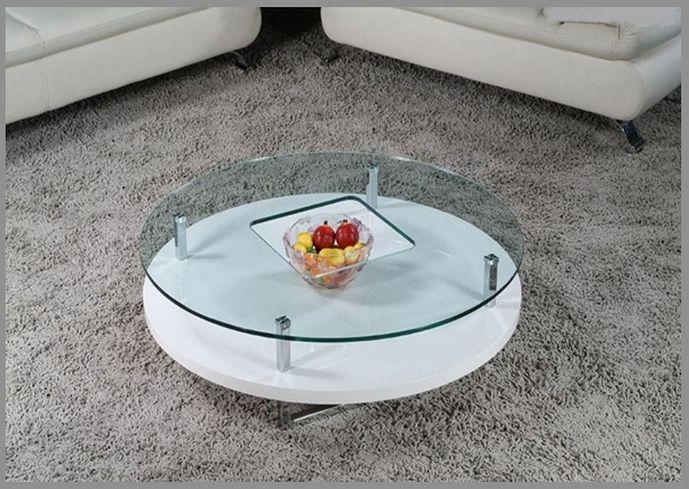 Mid century modern coffee table glass