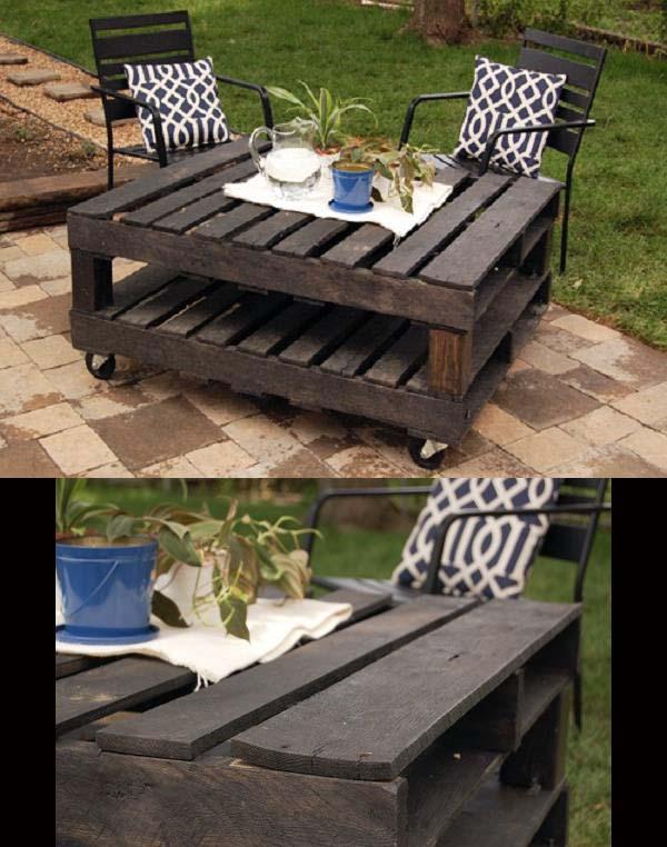 Outdoor coffee table diy