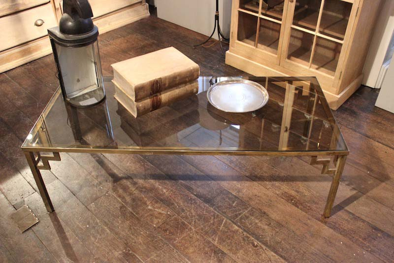 Brass and glass coffee table uk