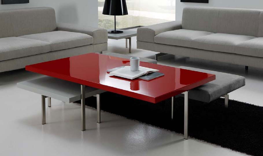 Contemporary red coffee tables